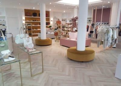 Agencement magasin bar, table comptoir, Brest Finistère