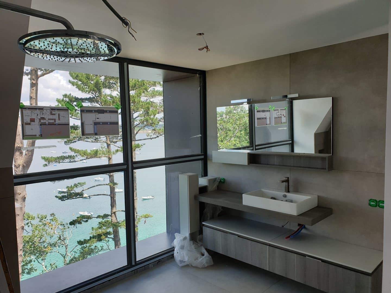 creation salle de bain plougonvelen - Agencement intérieur